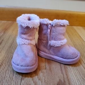Airwalk Pink Zip-up Faux Fur Boots